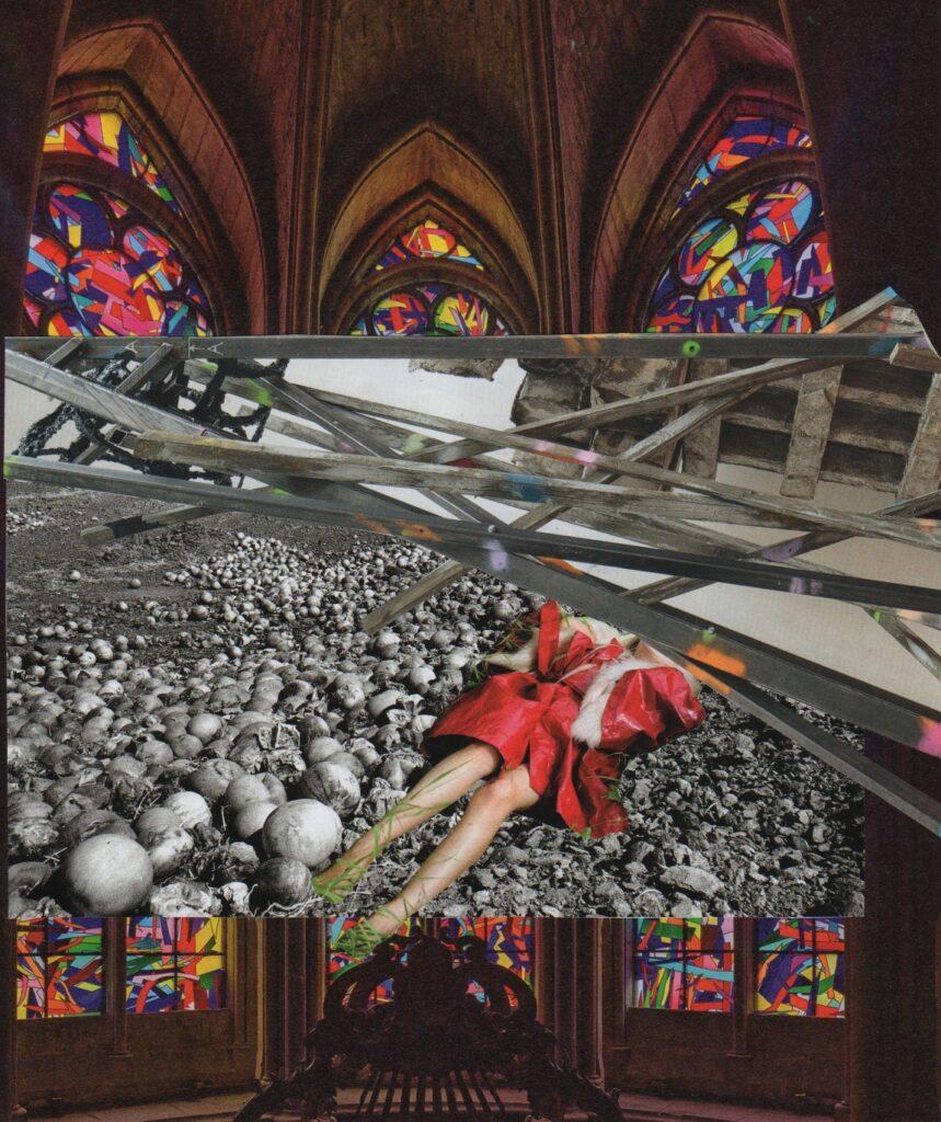 Kate HOLFORD - Life-as-it-is Must Die - Sabina Spielrein (collage) 2019